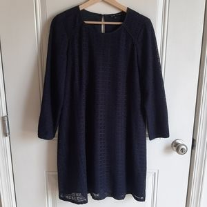 Madewell Et Sezane Navy Lace Thelma Dress Size 6